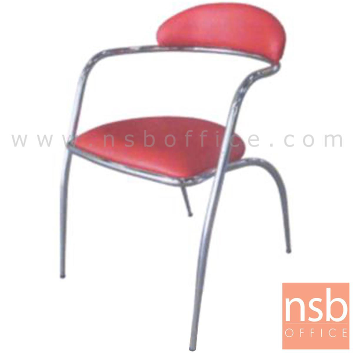 B08A014:เก้าอี้อเนกประสงค์เหล็ก รุ่น TK-21  ขาเหล็กชุบโครเมี่ยม