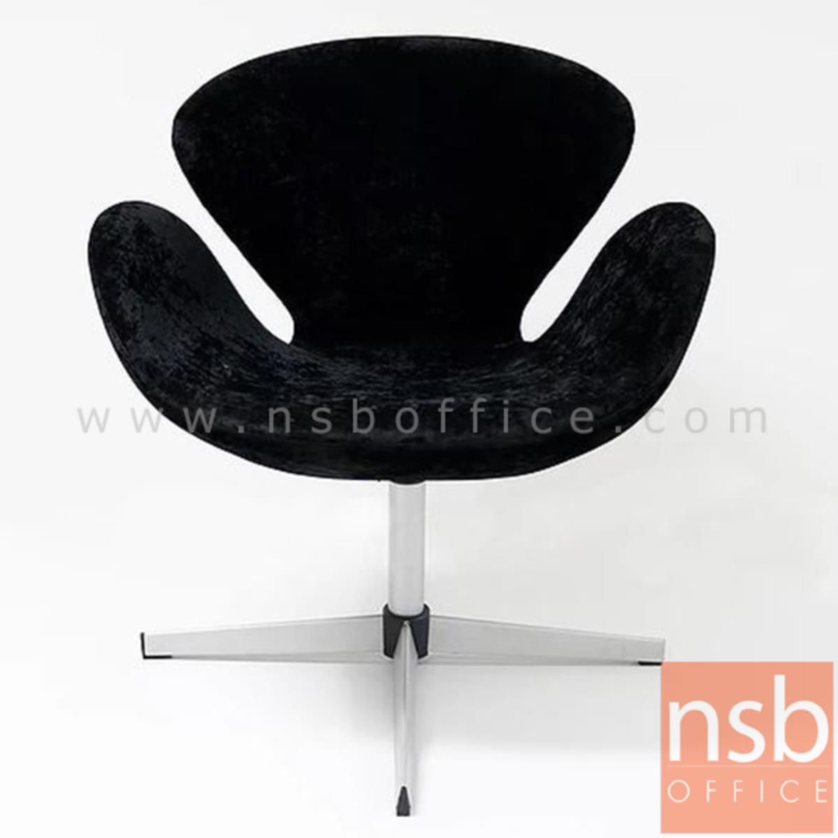 B29A309:เก้าอี้โมเดิร์นผ้ากำมะหยี่  รุ่น Chessington (เชสซิงตัน)  โครงขาเหล็กชุบโครเมี่ยม