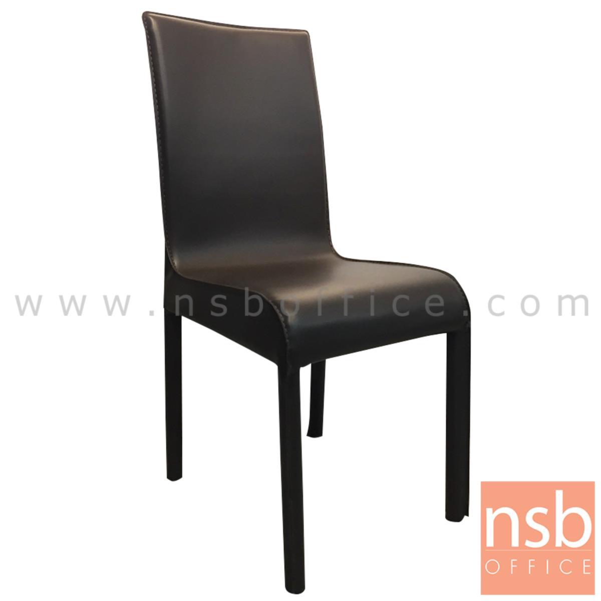 G14A094:เก้าอี้เหล็กที่นั่งหุ้มหนังเทียม รุ่น DS-GEMV ขาเหล็กหุ้มหนังเทียม