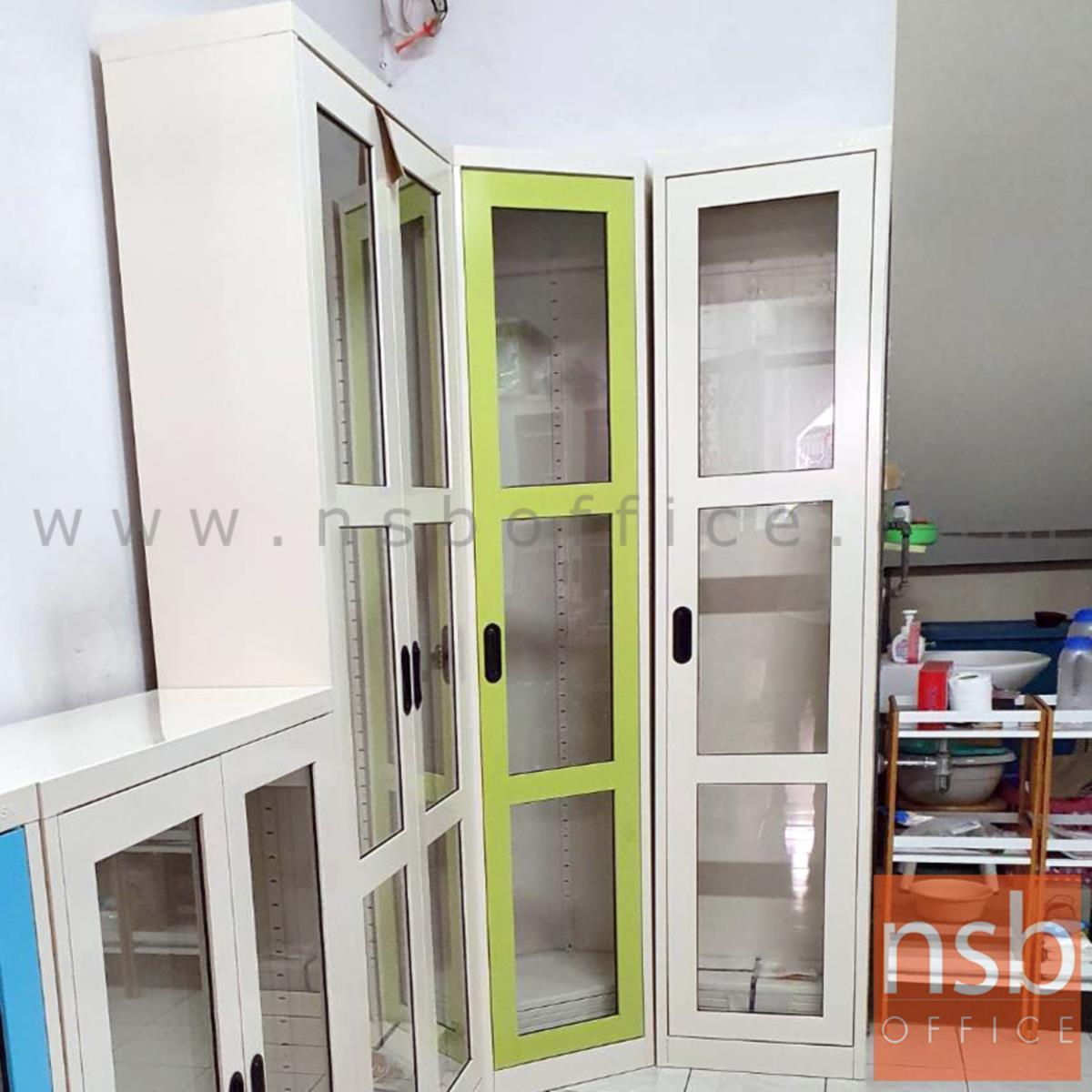 ตู้เอกสาร 1 บานเปิดกระจกสูง 200 ซม.รุ่น MAX-042