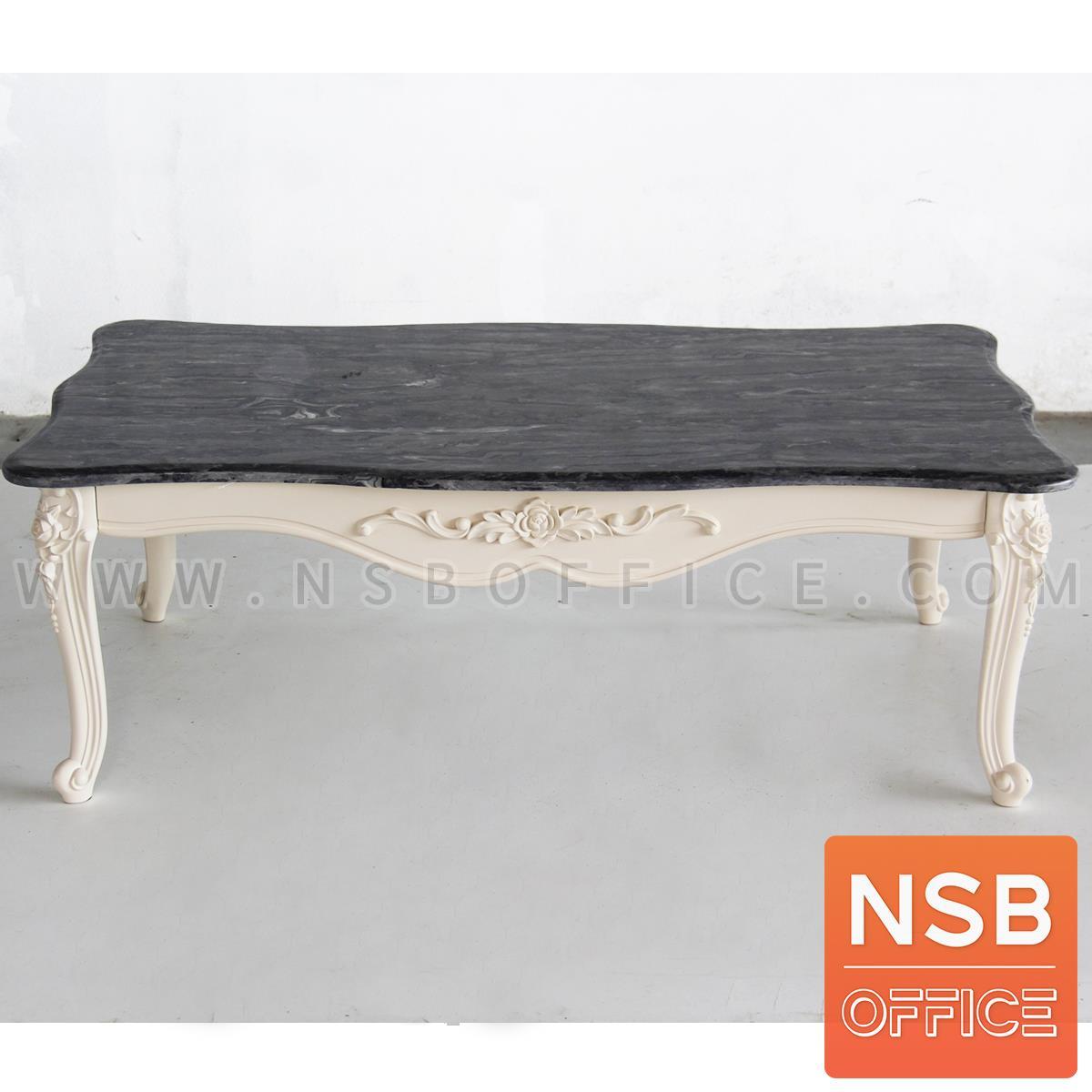 โต๊ะกลางหินอ่อน  รุ่น AYUMI-01 ขนาด 120W cm. ขาสลักลาย
