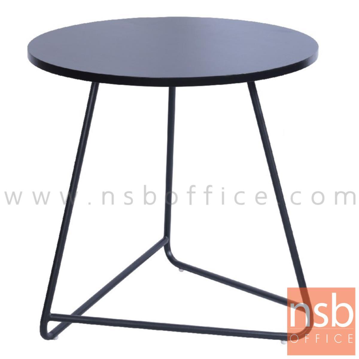 A14A256:โต๊ะบาร์ COFFEE รุ่น Fano (ฟาโน) ขนาด 60Di cm. หน้าท็อปไม้ ขาเหล็ก