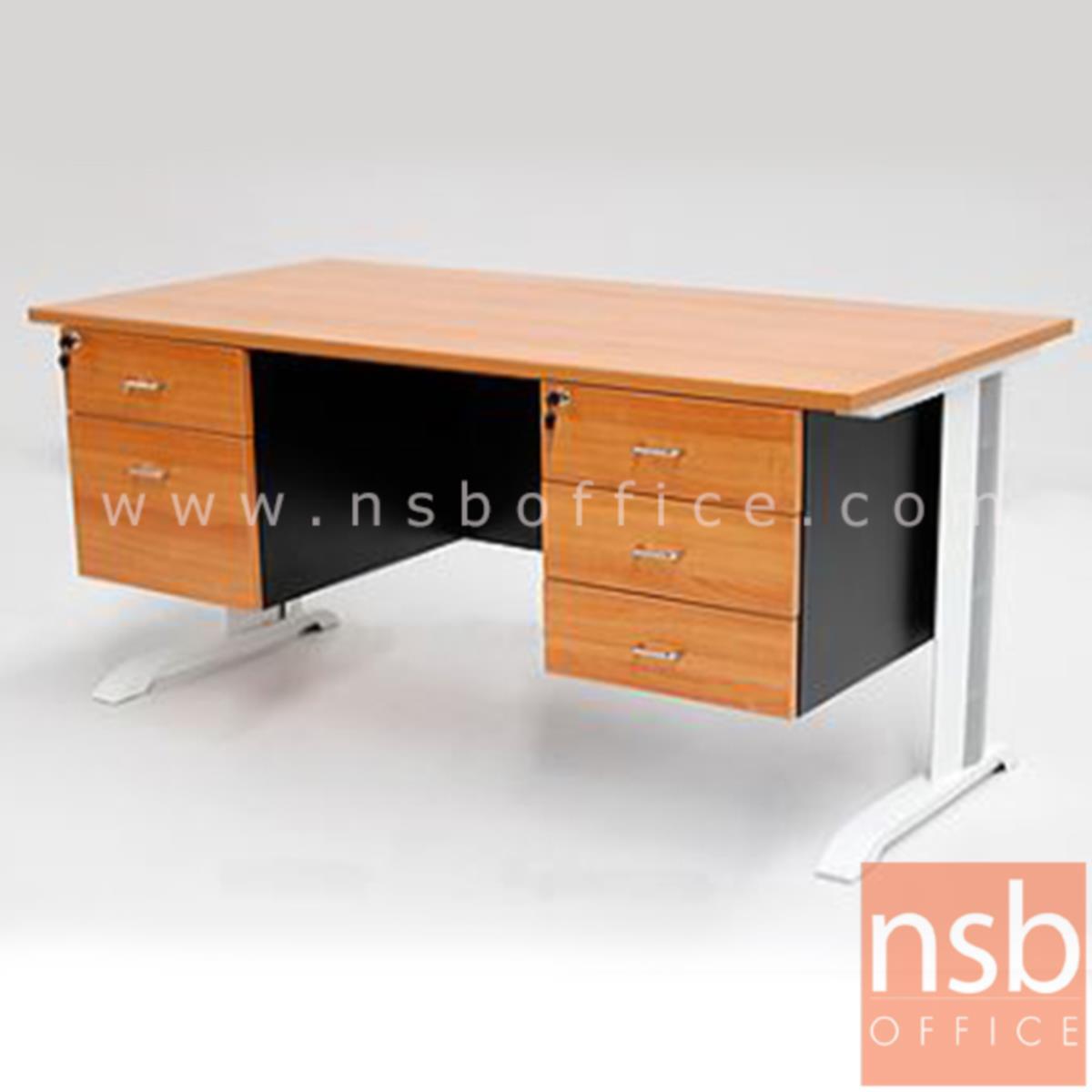 โต๊ะทำงาน 5 ลิ้นชักข้าง รุ่น Dempsey (เดมป์ซีย์) ขนาด 150W ,165W ,180W (*60D,75D) cm.  เมลามีน