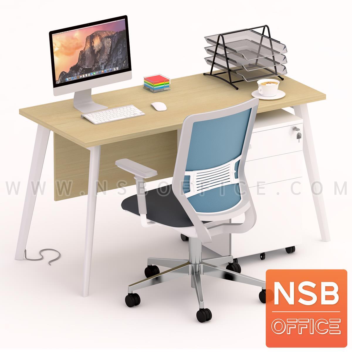 โต๊ะทำงานพร้อมลิ้นชักเหล็กล้อเลื่อน  รุ่น Zania 1 (ซาเนียร์ 1)  บังตา ขาเหล็ก