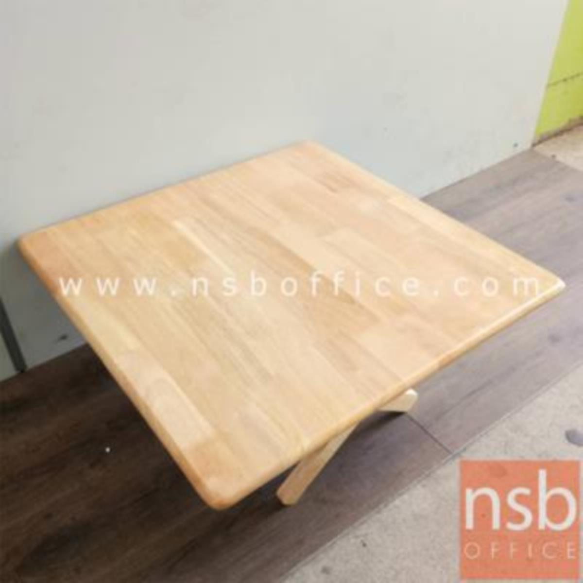A14A193:โต๊ะพับหน้าไม้ยางพารา รุ่น Pansy (แพนซี) ขนาด 60W ,75W cm.  สีธรรมชาติ