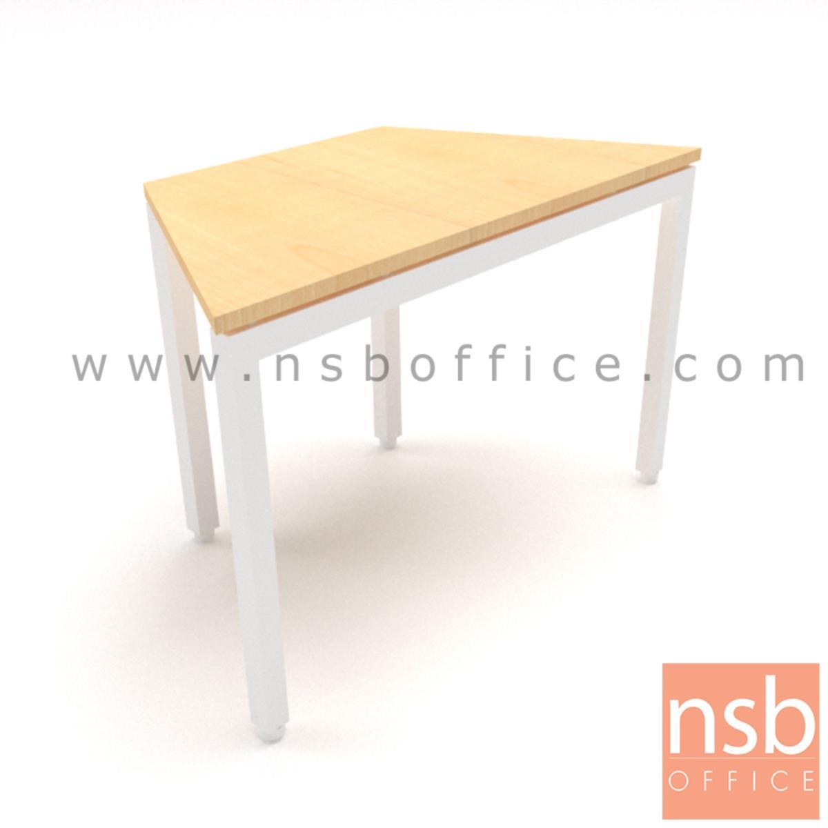 A10A074:โต๊ะทำงานทรงคางหมูไม่มีล้อ รุ่น Pomelo (โพเมโล่) ขนาด 105W ,120W ,140W ,180W cm.  โครงขาเหล็กเหลี่ยม