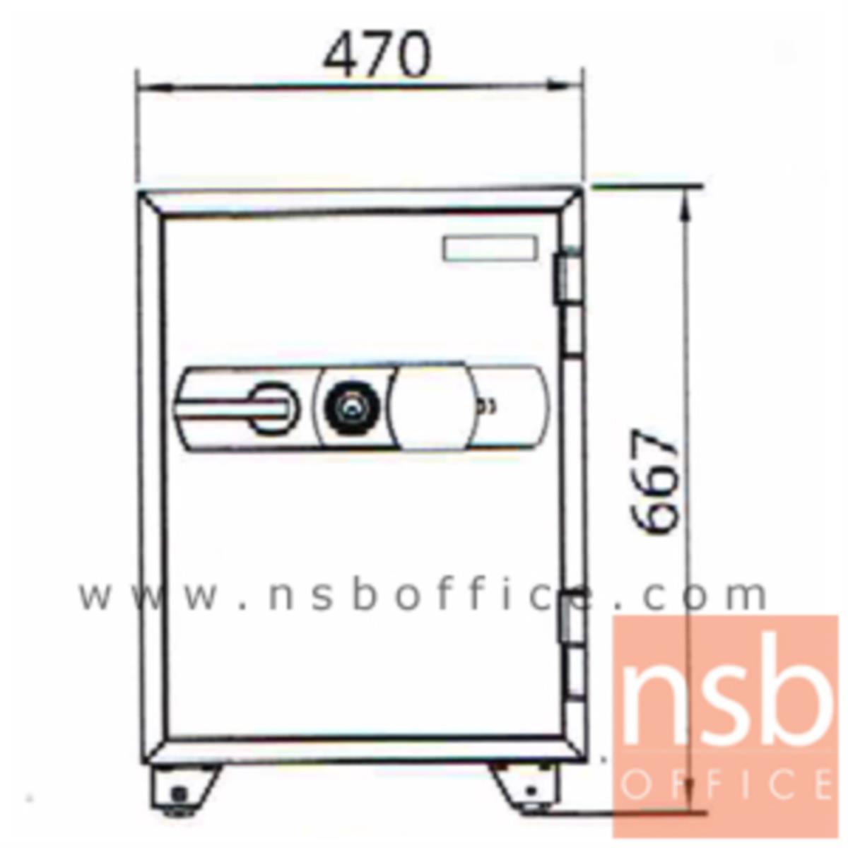 ตู้เซฟดิจิตอล 105 กก. รุ่น PRESIDENT-SMD  มี 1 กุญแจ 1 รหัส (รหัสกด digital)