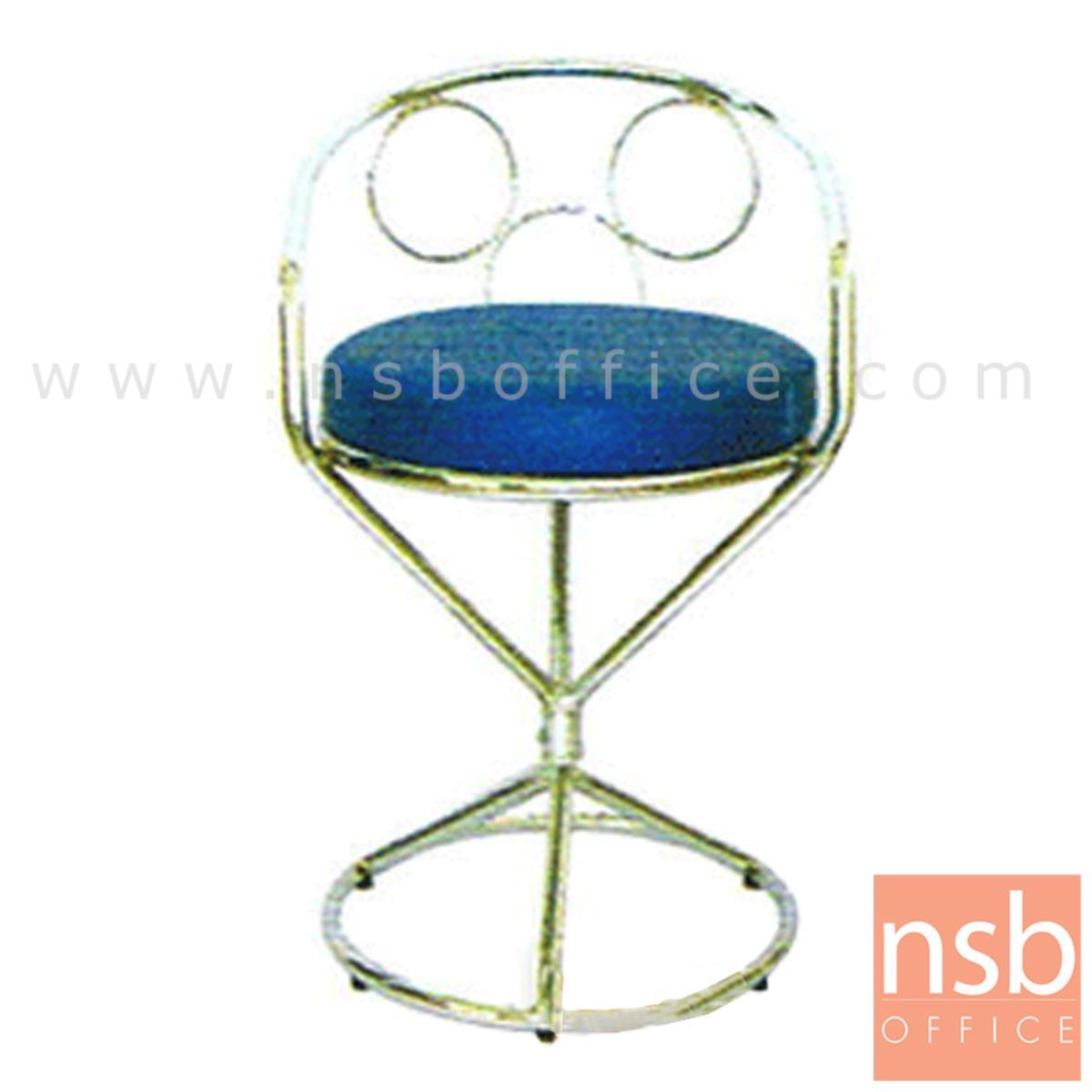 B09A009:เก้าอี้บาร์ที่นั่งกลม ุรุ่น CS-025 ขาเหล็ก