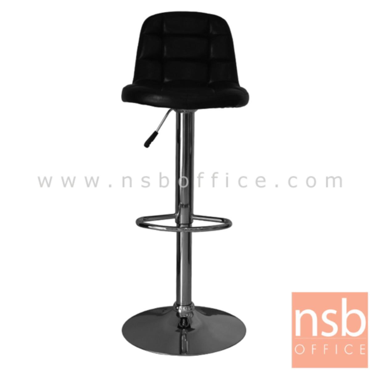 B09A154:เก้าอี้บาร์สูงหนังเทียม รุ่น Jarmar (จามาร์) ขนาด 52W cm. ขาโครเมี่ยมฐานจานกลม