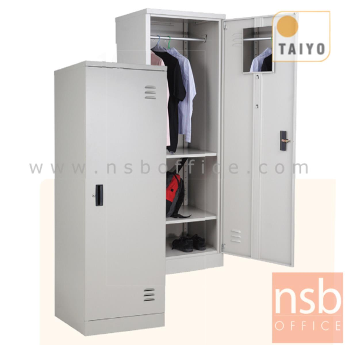 E08A013:ตู้เสื้อผ้าเหล็ก 1 บานเปิดเดี่ยว 60W*60D*180H cm (มีกระจกด้านใน) รุ่น WD72RWK