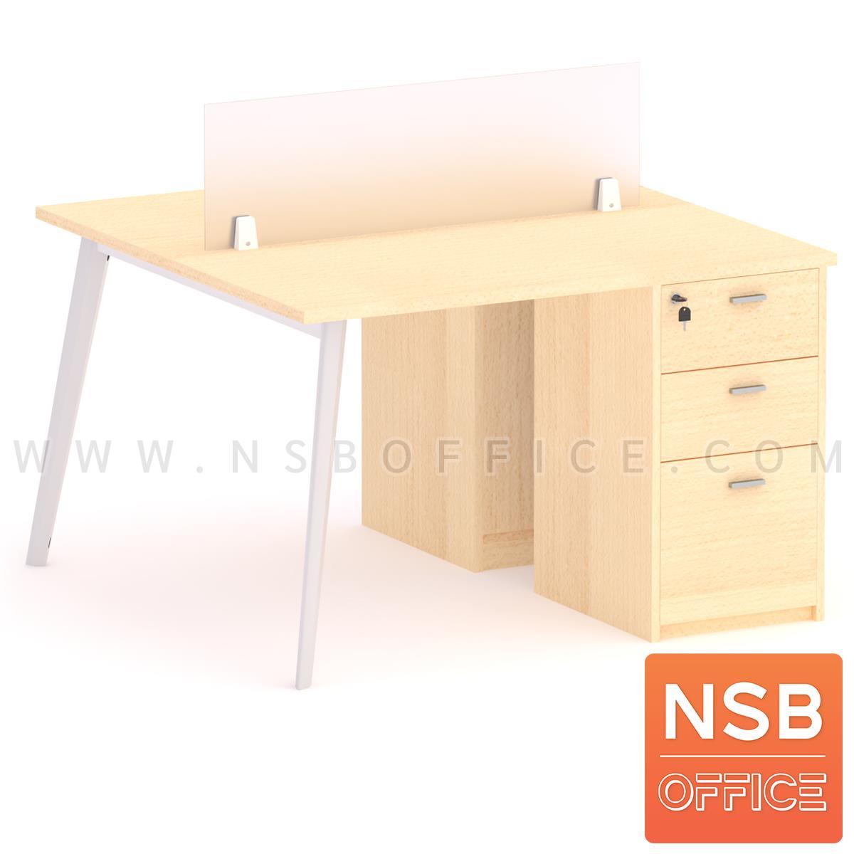 A31A007:ชุดโต๊ะทำงานกลุ่ม รุ่น Outer (เอ็าเทอร์) 2, 4, 6 ที่นั่ง  พร้อมมินิสกรีนและตู้ลิ้นชักไม้