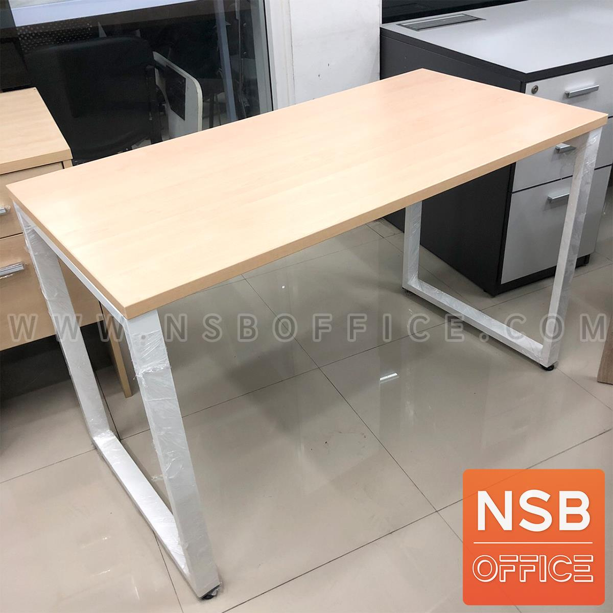 A41A002:โต๊ะทำงานโล่ง รุ่น Adaline (อดาลิน) ขนาด 100W,120W*60D*75H cm. ขาเหล็กเหลี่ยม
