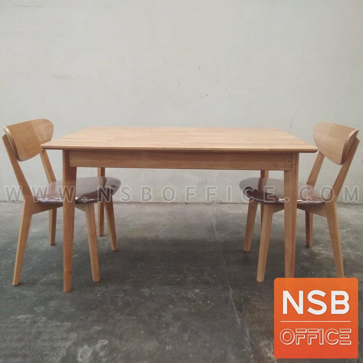 G14A244:ชุดโต๊ะรับประทานอาหารไม้ยางพารา รุ่น Jinny (จินนี่) ขนาด 120W*80D*75H , 150W*90D*75H , 180W*80D*100H cm.