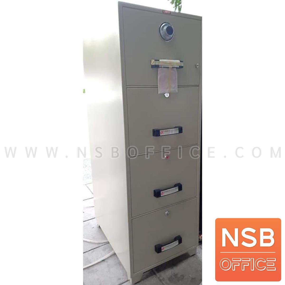 ตู้เซฟ 4 ลิ้นชักแฟ้มแขวน 330 กก. ลีโก้ รุ่น LEECO-TB4C-4D มี 4 กุญแจ 1 รหัส (เปลี่ยนรหัสไม่ได้)