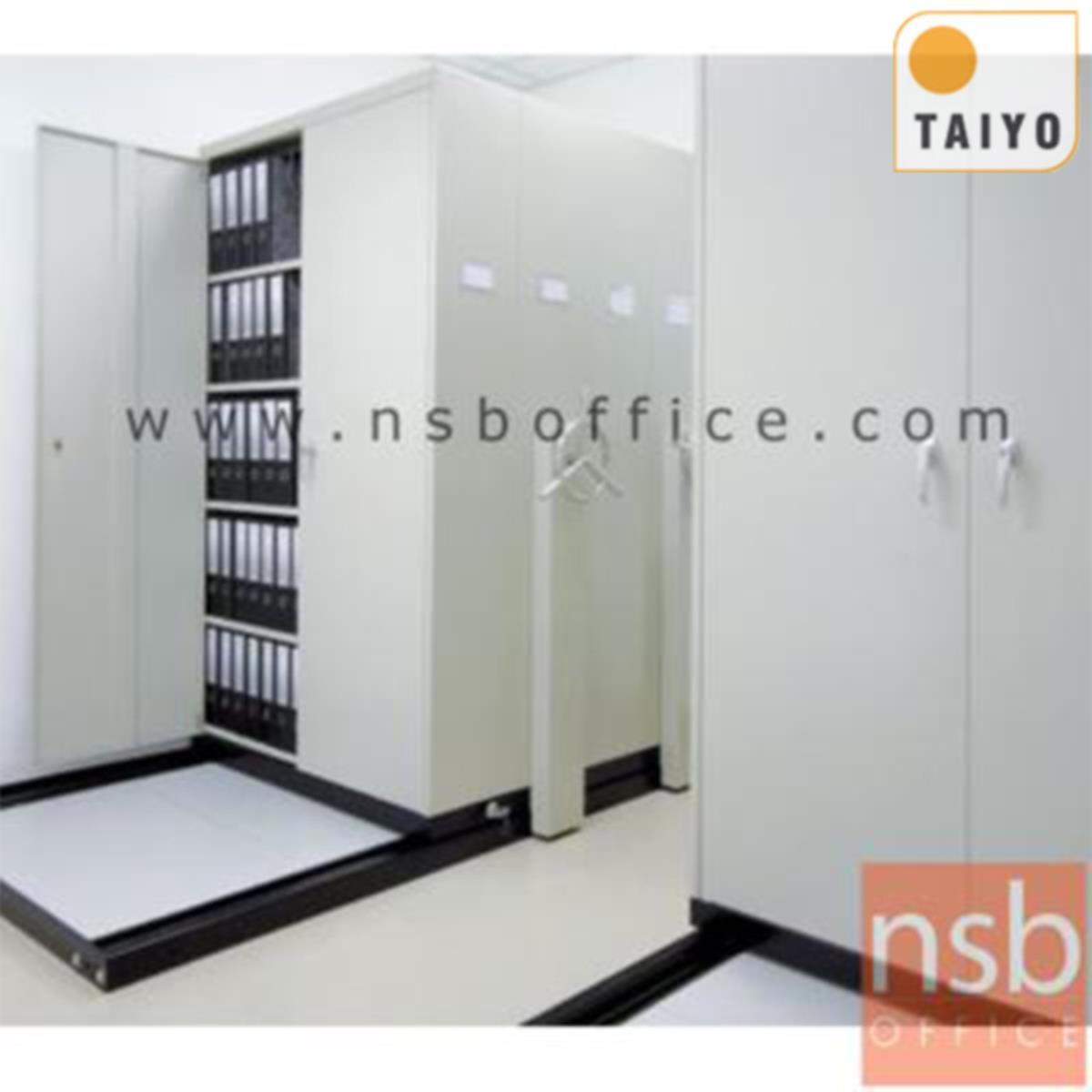 D02A006:ตู้รางเลื่อนแบบพวงมาลัย 1 ตอน  TAIYO-GT มอก. 1496-2541 ขนาด 5, 7, 9 ตู้