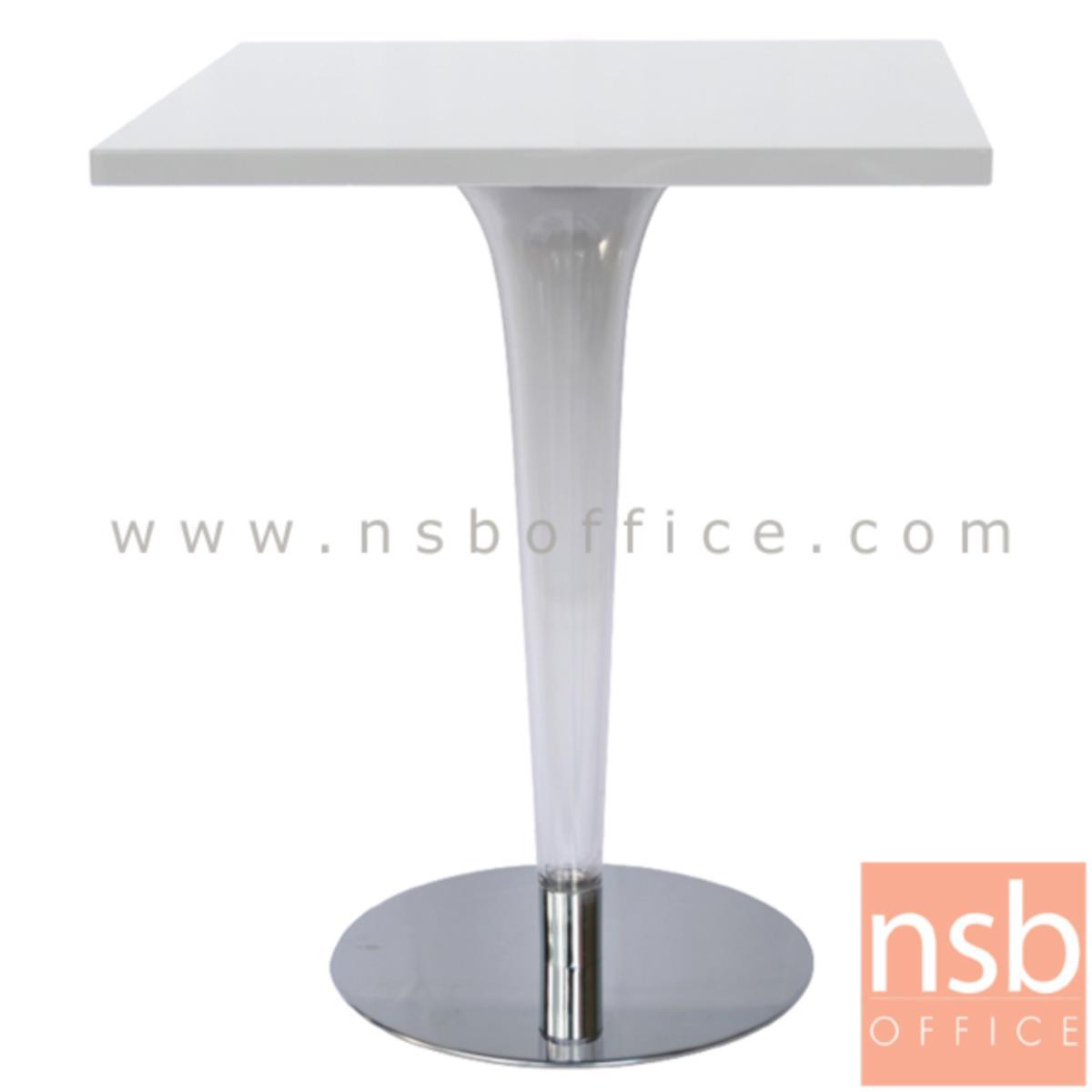 A14A180:โต๊ะหน้าพลาสติก รุ่น NPT-4066H ขนาด 60W cm.  ขาเหล็กจานกลมชุบโครเมี่ยม