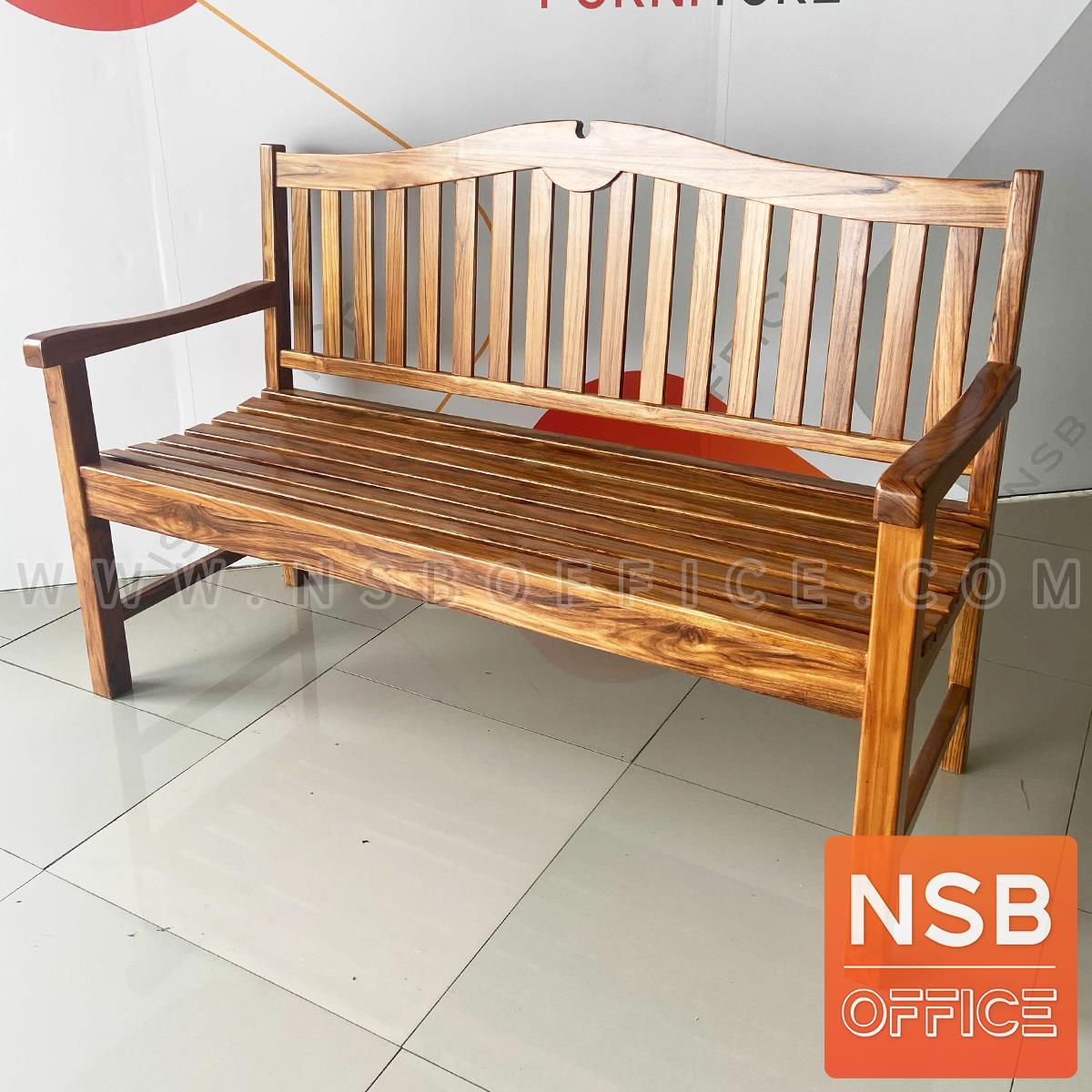 ม้านั่งไม้สัก มีพนักพิง รุ่น Woodline (วู็ดไลน์) ขนาด 138W cm. สีธรรมชาติ