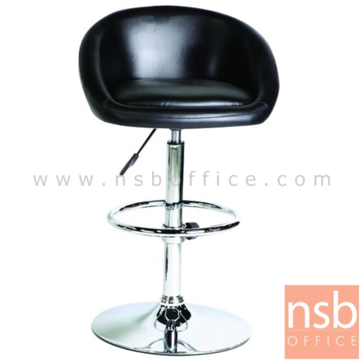 B09A120:เก้าอี้บาร์สูงหนังเทียม รุ่น Rodney (ร็อดนีย์) ขนาด 55W cm. โช๊คแก๊ส ขาโครเมี่ยมฐานจานกลม