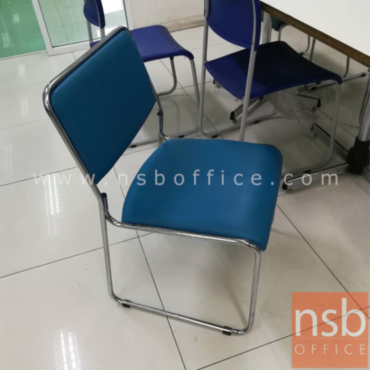 เก้าอี้รับแขกขาตัวยู รุ่น VC-830  ขาเหล็กชุบโครเมี่ยม