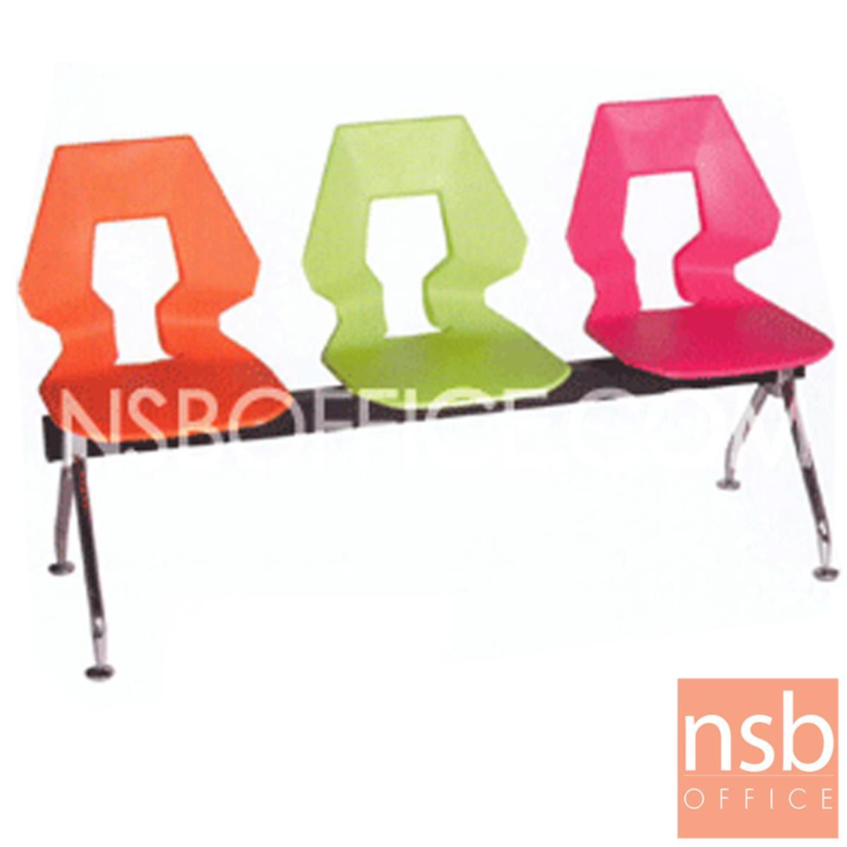 B06A085:เก้าอี้นั่งคอยเฟรมโพลี่ รุ่น V-B528 2 ,3 ,4 ที่นั่ง ขนาด 92W ,143W ,194W cm. ขาเหล็ก