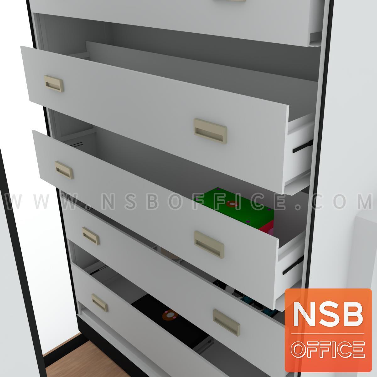 ตู้รางเลื่อนลิ้นชักเก็บชิ้นงาน ระบบมือผลัก  ความลึก 91.4 ซม. 1 ตอน 6, 8, 10 ตู้ (เหล็กหนา 0.7 มม.)