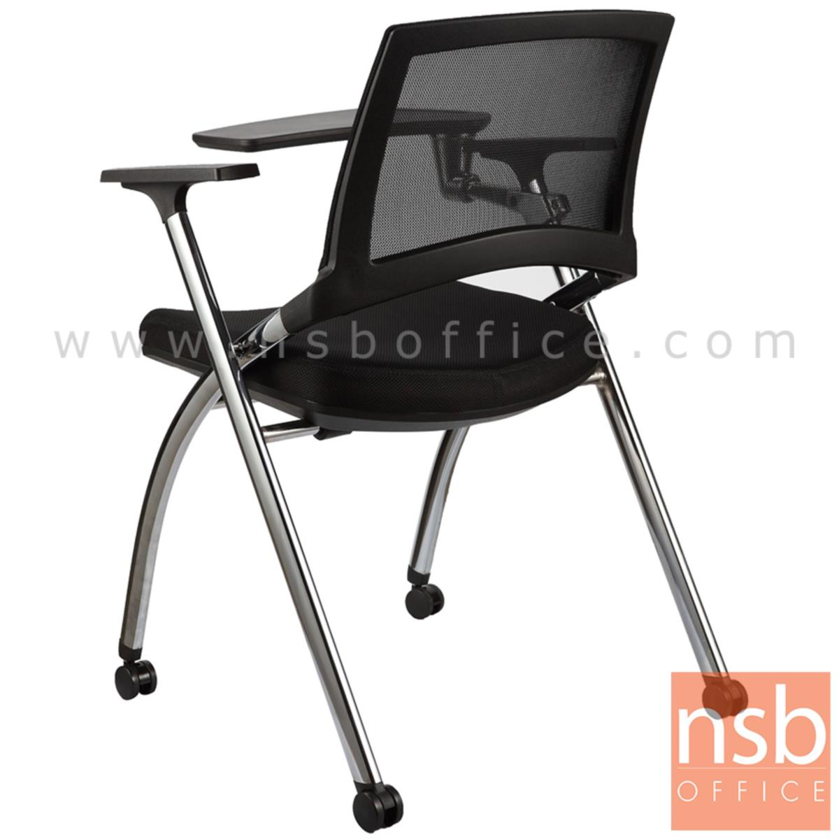เก้าอี้เลคเชอร์หลังเน็ตล้อเลื่อน รุ่น ATHENA (อาทีน่า)  ขาเหล็ก