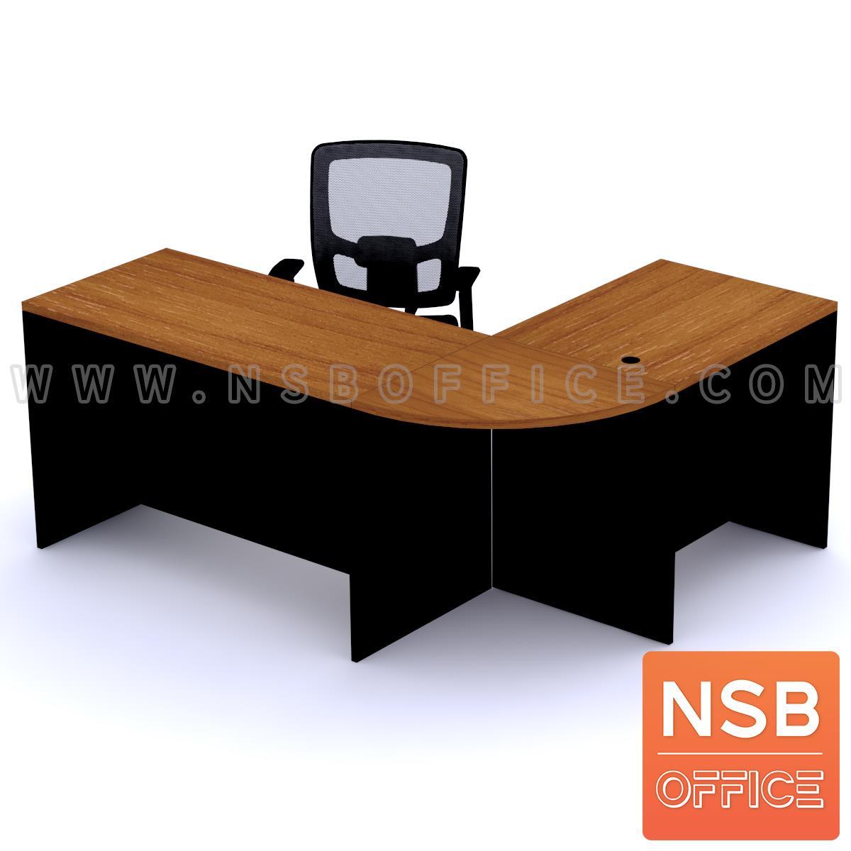 โต๊ะทำงานตัวแอล ชุด 2+1 ชิ้น รุ่น Richard (ริชาร์ด) ขนาด 180W1*140W2 cm. เมลามีน