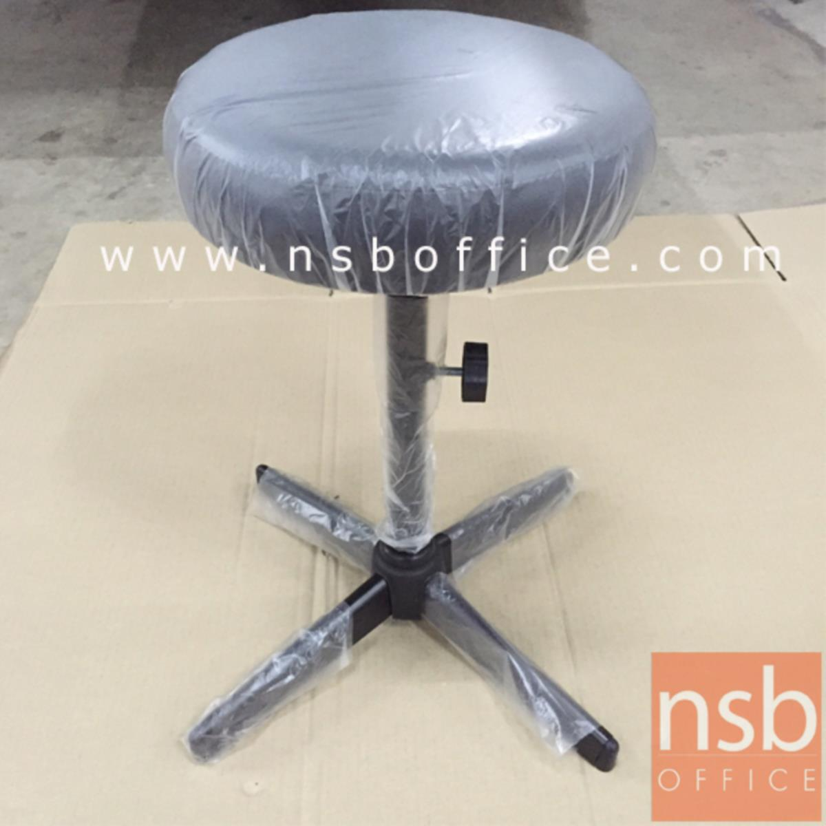 เก้าอี้บาร์สตูลที่นั่งกลม รุ่น Norabel (นอร่าเบล)  ขาเหล็กพ่นดำ 4 แฉก