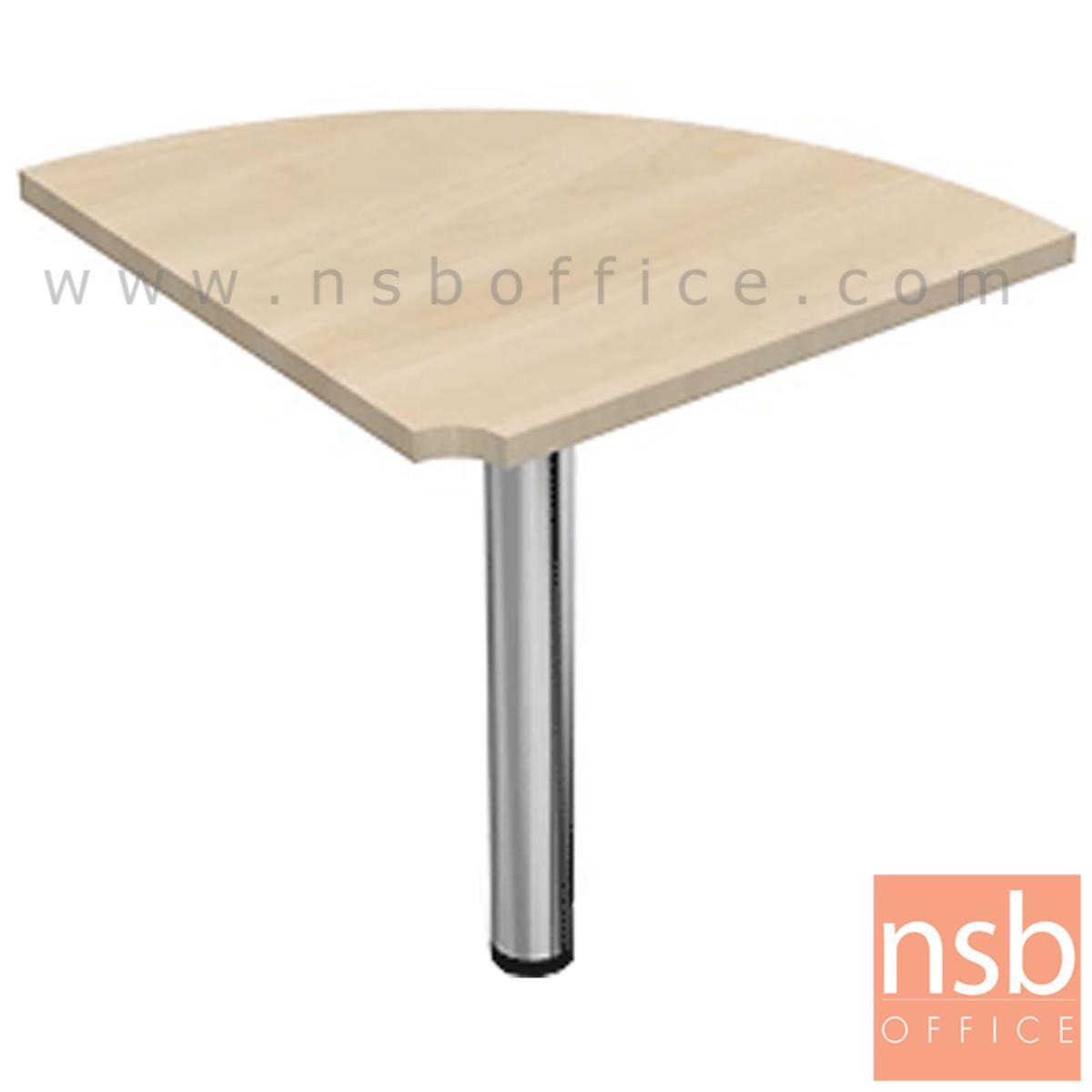 A05A060:โต๊ะเข้ามุมทรงโค้ง  ขนาด R60 cm.   เมลามีน ขากลมโครเมี่ยม