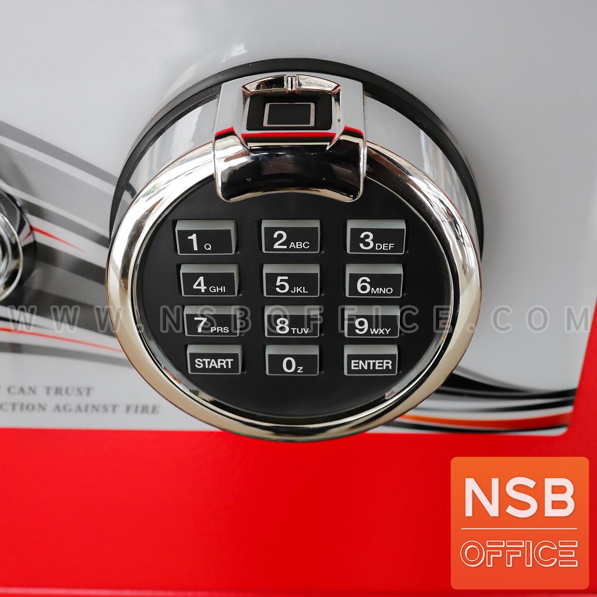 ตู้เซฟนิรภัยดิจิตอลระบบสแกนนิ้วมือ แบบนอน 50 กก.  รุ่น PRESIDENT-SS1-DF มี 1 รหัส 1 กุญแจ