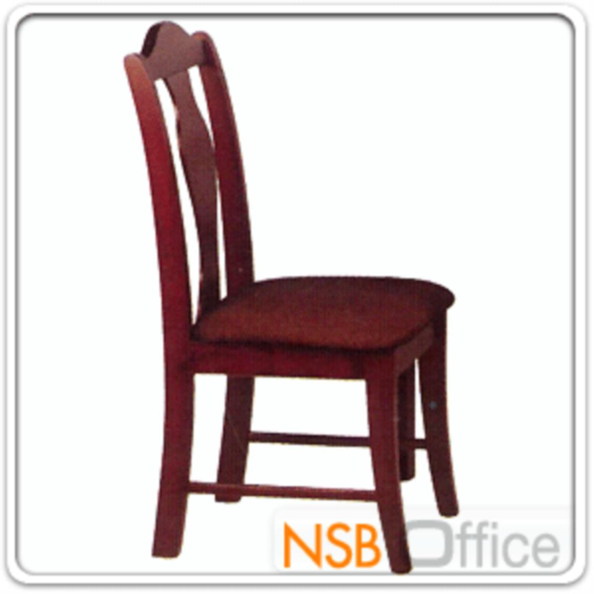 เก้าอี้ไม้ยางพาราที่นั่งหุ้มหนังเทียม  รุ่น Webster (เว็บสเตอร์) ขาไม้