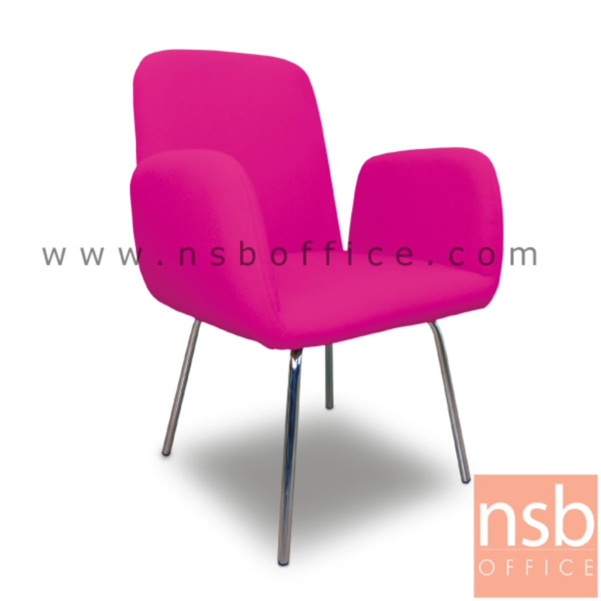 เก้าอี้พักผ่อนหนังเทียม  รุ่น Knopfler (นอฟเลอร์) ขนาด 61W cm. ขาเหล็กชุบโครเมี่ยม