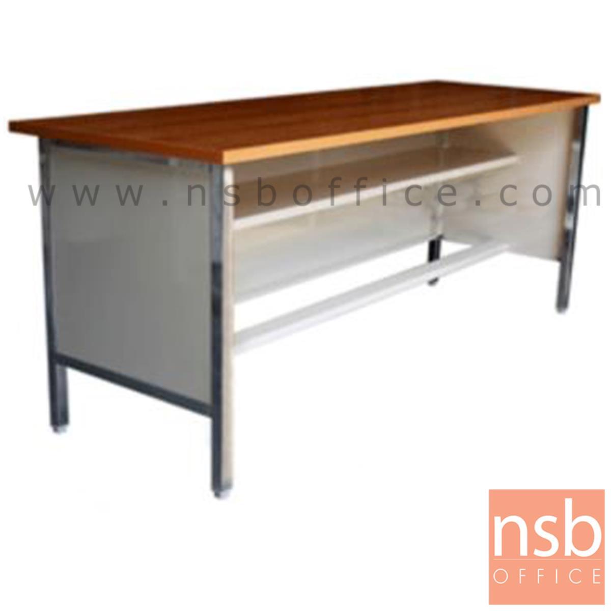 A05A062:โต๊ะประชุมตรง รุ่น Maeby (เมบี) ขนาด 119.7W ,152.5W ,182.5W cm. ขาเหล็ก 4 ขามีปุ่มปรับระดับ