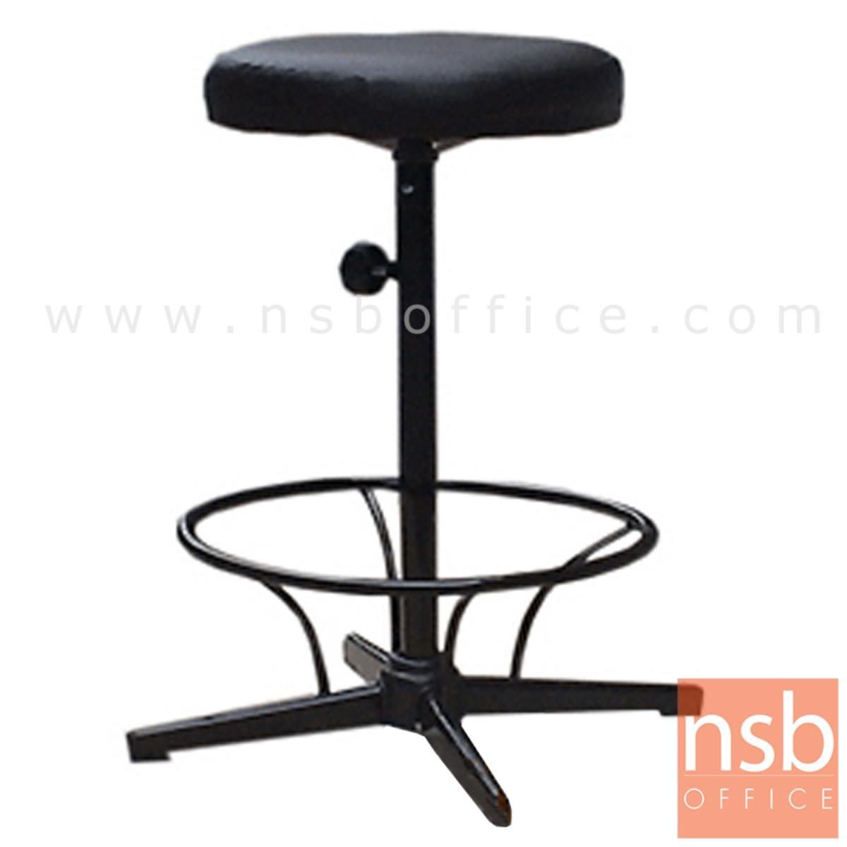 B09A071:เก้าอี้บาร์สตูลที่นั่งกลม รุ่น Keva (เคว่า)  ขาเหล็กพ่นดำ 4 แฉก
