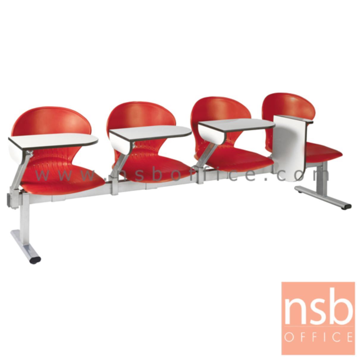เก้าอี้เลคเชอร์แถวเฟรมโพลี่ รุ่น D876 2 ,3 และ 4 ที่นั่ง ขาเหล็กพ่นสีเทา