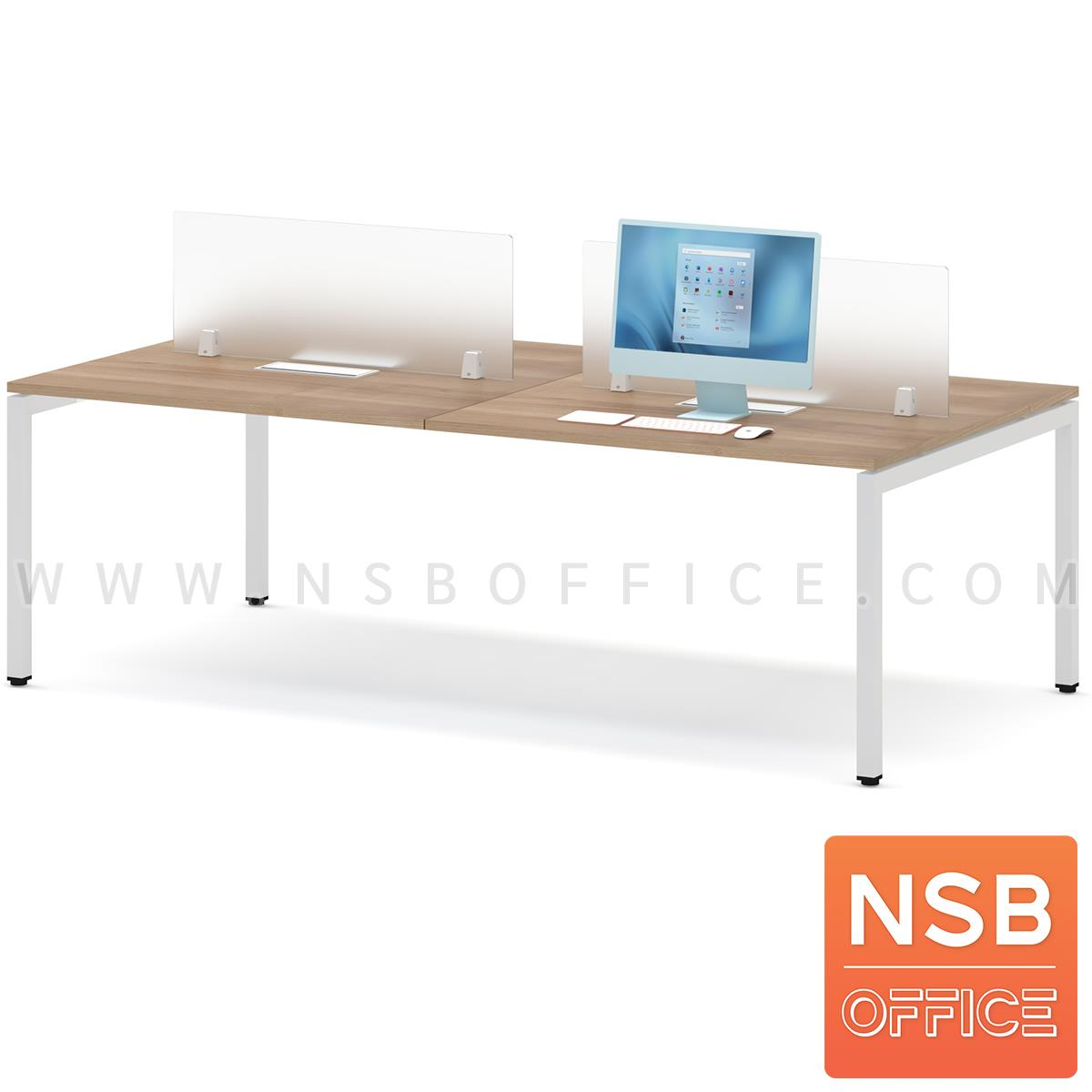 ชุดโต๊ะทำงานกลุ่ม รุ่น Smart  พร้อมมินิสกรีนและกล่องไฟ A24A034-2 ทุกที่นั่ง