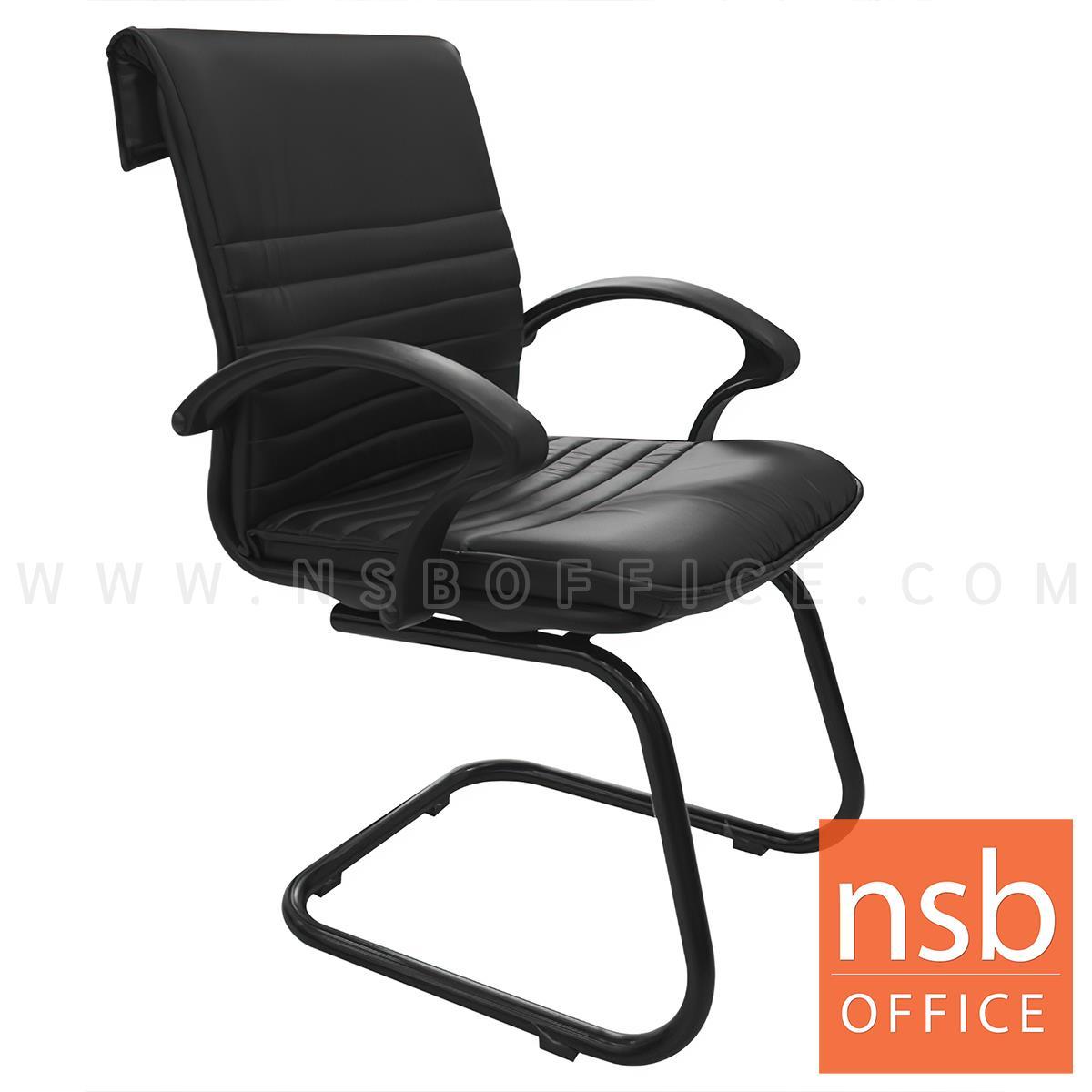 B04A145:เก้าอี้รับแขกขาตัวซี รุ่น TXESA-019C  ขาเหล็กพ่นดำ