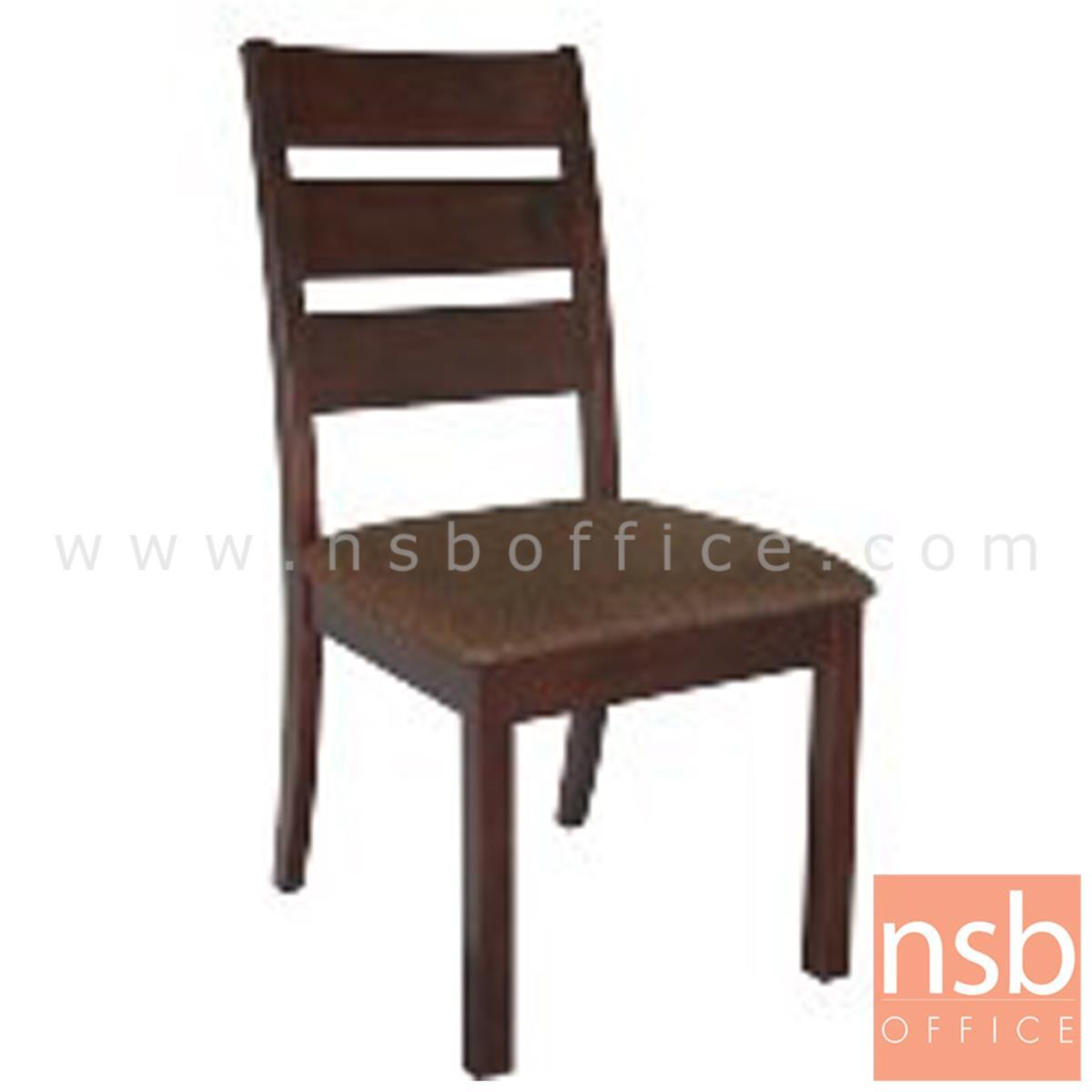 B22A183:เก้าอี้ไม้เบาะหุ้มผ้า รุ่น toba (โทบา)   พนักพิงไม้