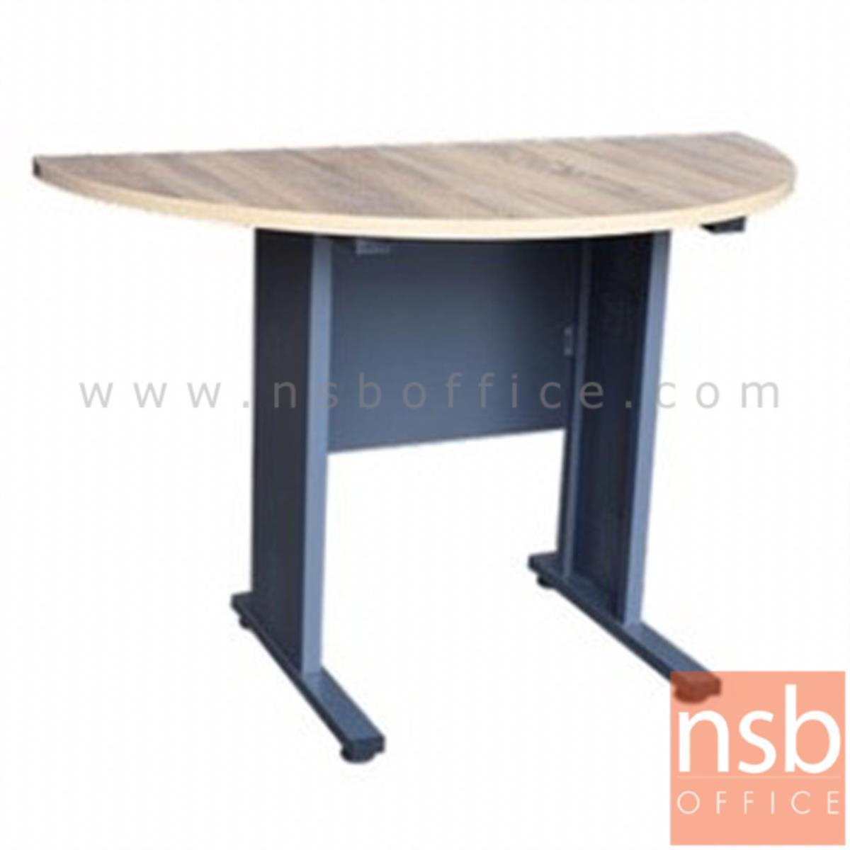A10A071:โต๊ะเข้ามุม รุ่น Prodigy (โพรดิจี้) ขนาด 120W cm. ขาเหล็ก  สีโซลิคตัดเทาเข้มหรือสีมูจิตัดเทาเข้ม