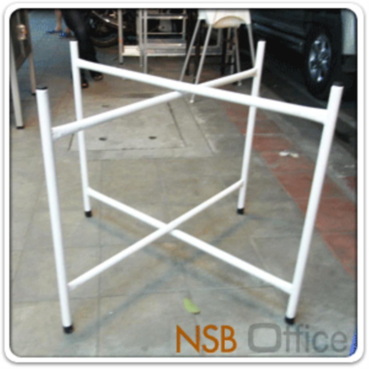 โต๊ะพับจีนหน้าพลาสติก  ขนาด 120Di cm.  โครงขาเหล็กพ่นขาว