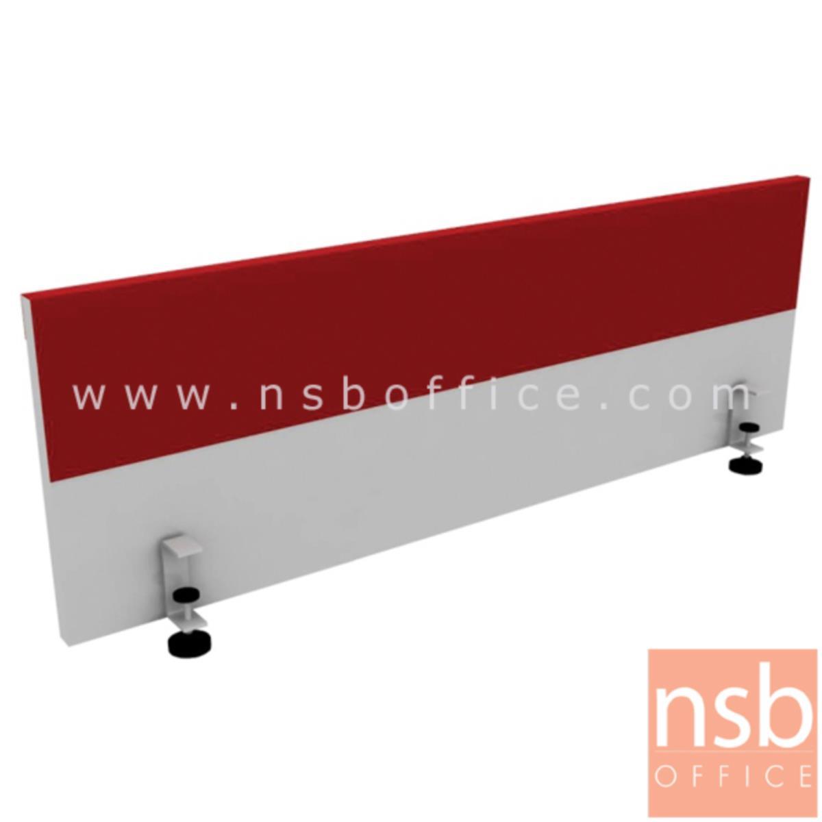 A24A003:มินิสกรีนไม้เมลามีน พร้อมแถบเหล็กติด magnet รุ่น MS05WS (แบบหนีบหน้าโต๊ะหนาพิเศษ) 120W*40H cm