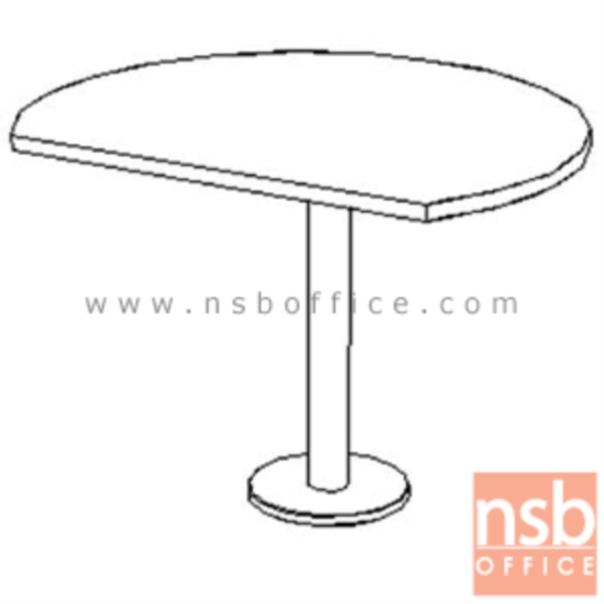 A04A154:โต๊ะเข้ามุม  รุ่น Frankie (แฟรงกี้) ขนาด 120Di cm.  ขาเหล็กพ่นดำ