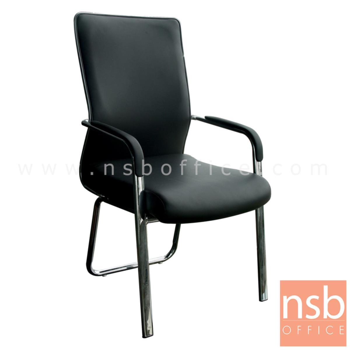 B04A176:เก้าอี้รับแขก รุ่น ID-ZM3 หุ้มหนังเทียม โครงขาเหล็ก