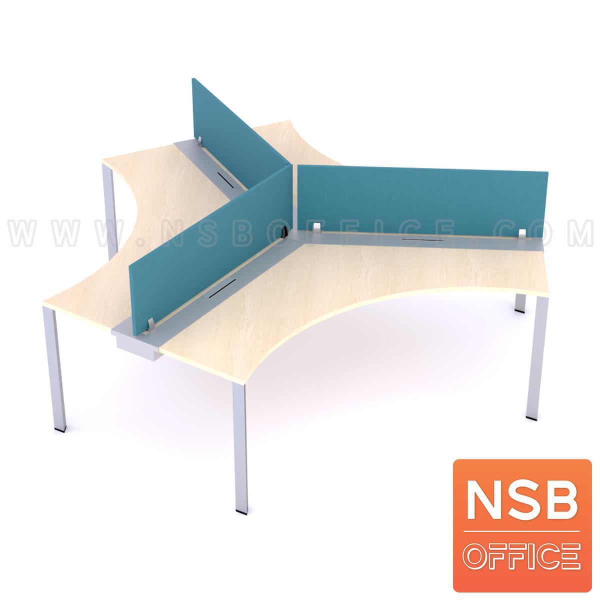 A27A057:โต๊ะทำงานกลุ่ม 3 ที่นั่ง รุ่น Lainey (เลนนี)  ขาเหล็กเหลี่ยม