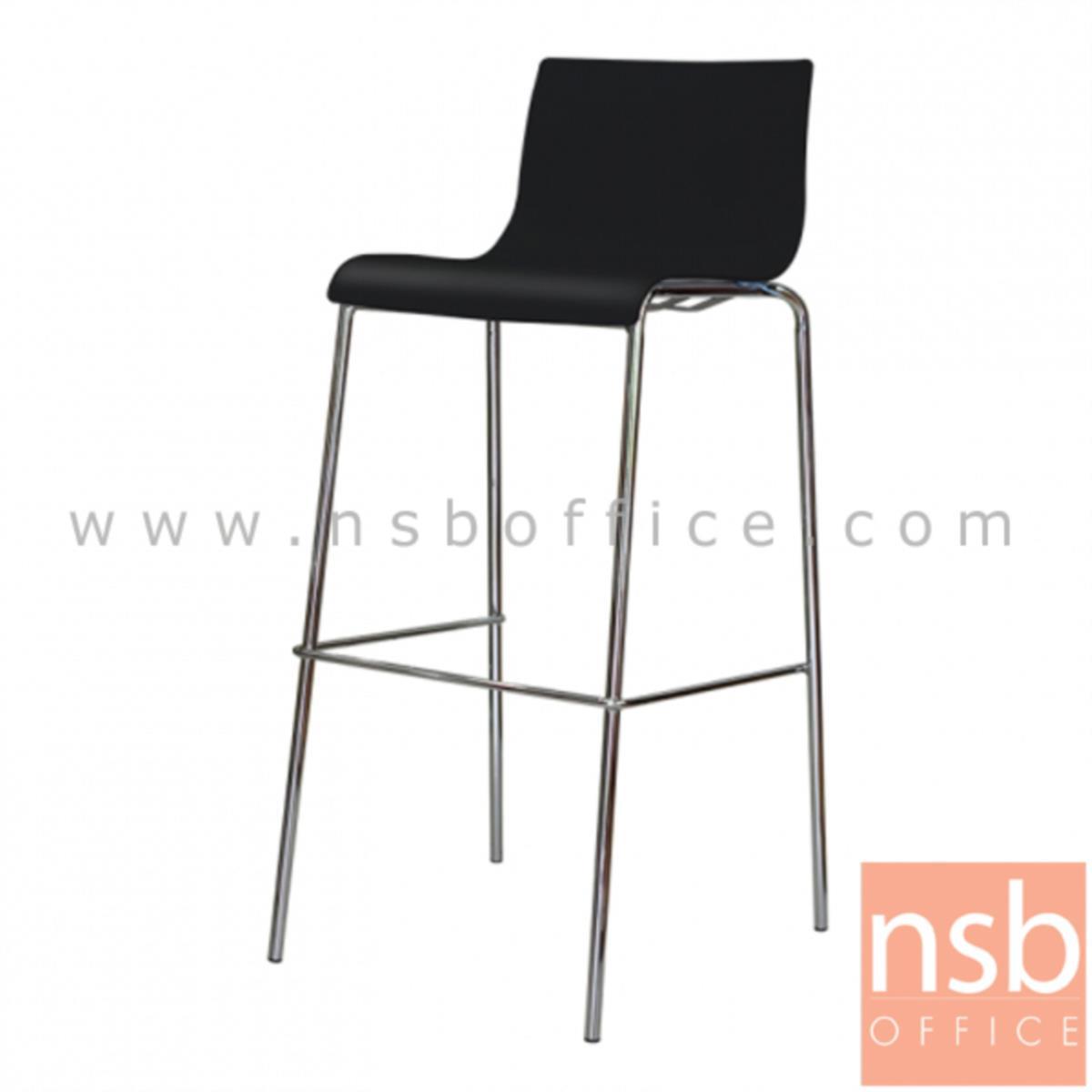 B09A191:เก้าอี้บาร์สูงโพลี่(PP) รุ่น NP-9200 ขนาด 39W cm. ขาเหล็กชุบโครเมี่ยม