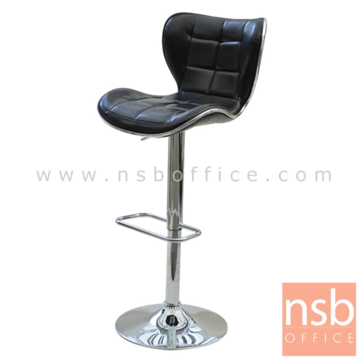 เก้าอี้บาร์สูงหนัง PU รุ่น NP-3102 ขนาด 44W cm. โช๊คแก๊ส ขาโครเมี่ยมฐานจานกลม