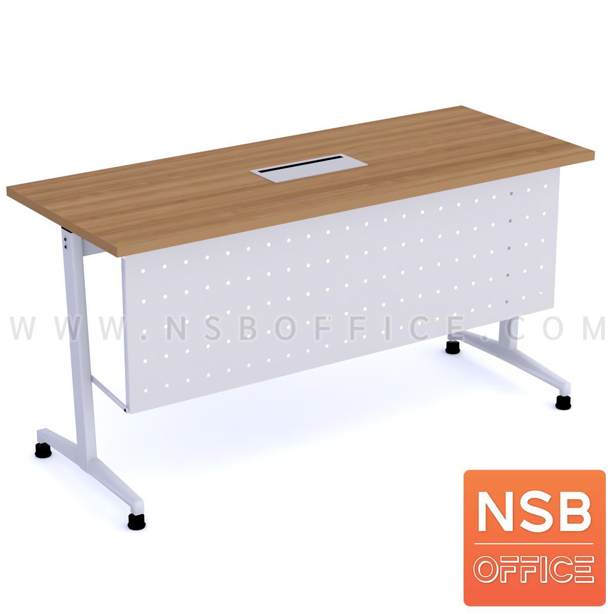 A18A102:โต๊ะทำงาน  รุ่น NAOMI (นาโอมิ) พร้อมบังโป๊เหล็ก