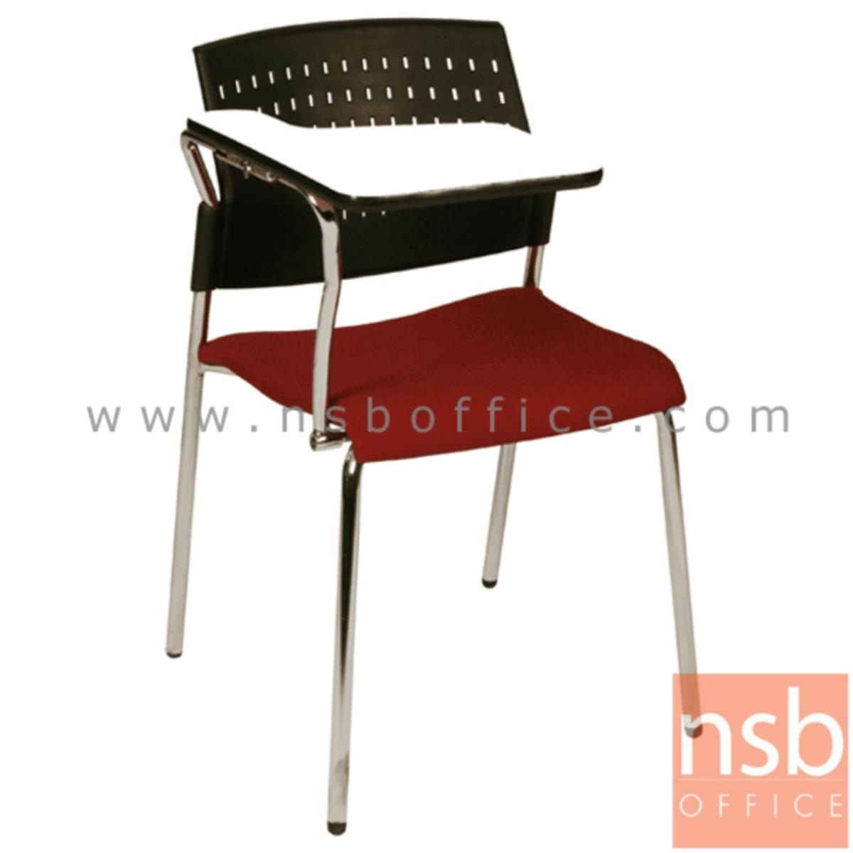 B07A049:เก้าอี้เลคเชอร์เฟรมโพลี่ รุ่น C3616 ขาเหล็กชุบโครเมี่ยม