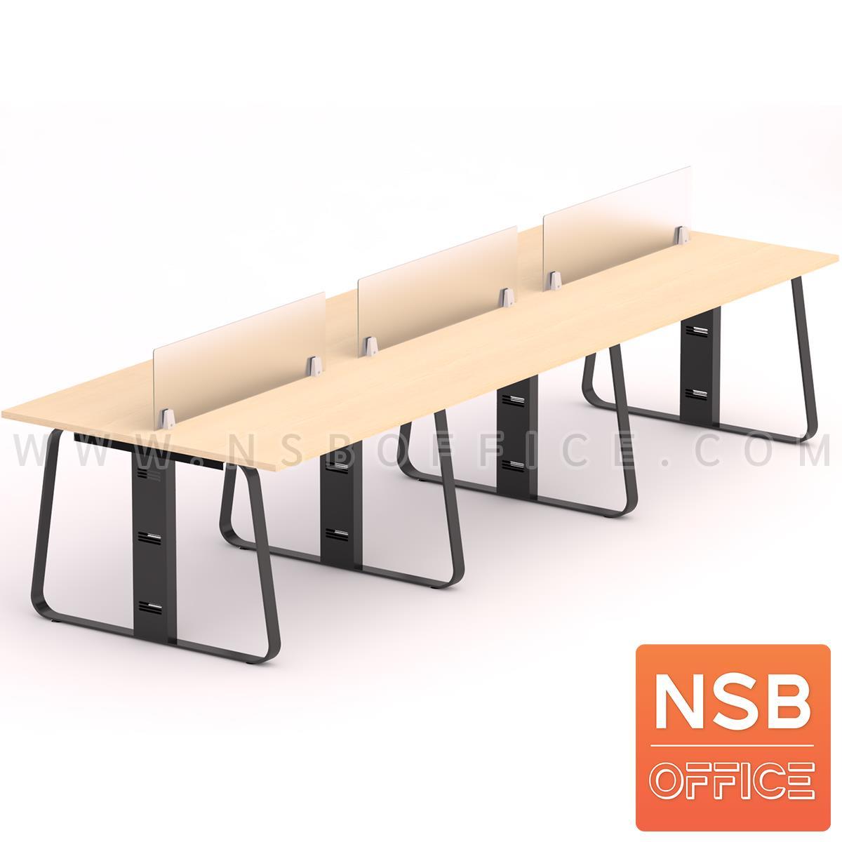 A27A031:ชุดโต๊ะทำงานกลุ่ม  รุ่น Lenka 1 (เล็งกา 1) 4 ,6  ที่นั่ง พร้อมมินิสกรีน ขาเหล็ก