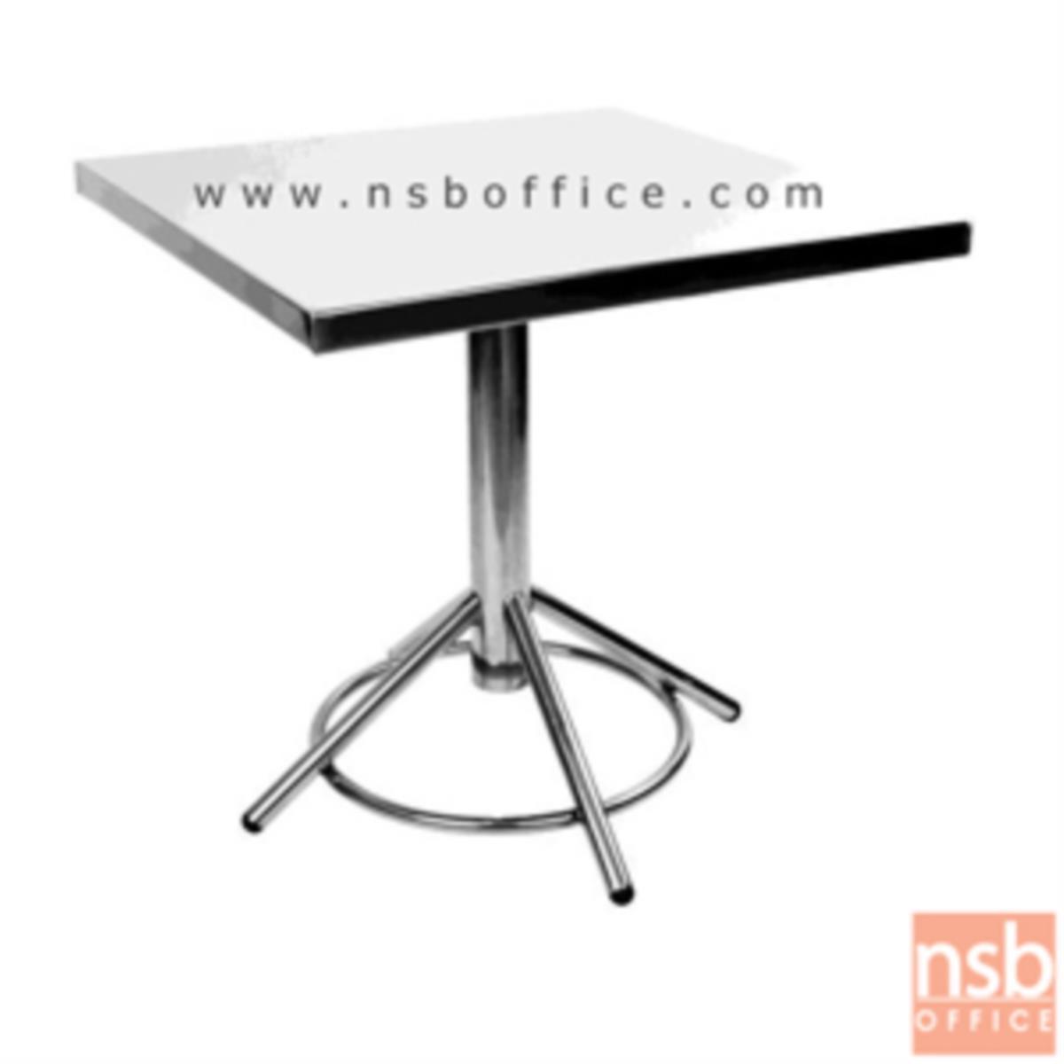G12A109:โต๊ะหน้าสเตนเลส รุ่น Santina (ซานทิน่า) ขนาด 75W cm.  ขาสเตนเลส